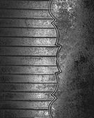 Grunge metal texture with old metal on edge — Stock Photo