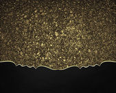 Background of golden sand with a black edge with gold trim — Stock Photo