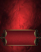 Design template. Red rich texture with red sign — Foto de Stock