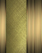 Gold background with gold ribbons on edges — Stock Photo