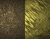 Two golden texture. Design template — Stock Photo