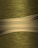 Yellow satin background with gold ribbons. Design template — Stock Photo