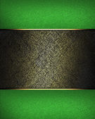 Dark background with a golden hue with green edges — Stock Photo