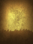 Gold grunge background with yellow accents — Stock Photo