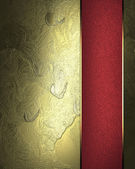 Golden abstract background with gold ribbon with the edge — Stock Photo