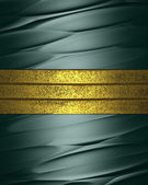 Abstract green grunge background with gold stripes — Stock Photo