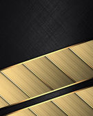 Black background with golden plates on edges — Stock Photo