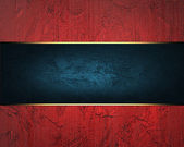 Grunge Red background with blue ribbon — Stock Photo