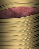 Background of gold stripes with purple cut out — Stock Photo