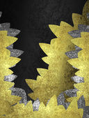 Black background with golden petals . Design template — Stock Photo