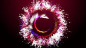 Abstract colorful background (Color Particles). — 图库照片