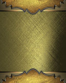 Abstract gold background with gold edged with gold trim — Stock Photo