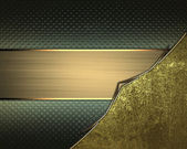 Abstract grunge background, with gold corners and gold ribbon — Stock Photo