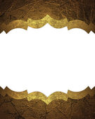 Abstract white background with gold edges with gold trim. — Stock Photo