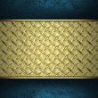 Template for writing. Abstract gold background with blue edges — Stock Photo