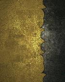 Gamla guld textur med mörk kant mönster — Stockfoto