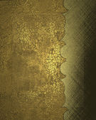 Old gold background with cutout. Design template — Stock Photo