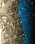 Fond de l'eau bleu et brun. modèle de conception — Photo