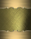Gold texture with gold edges and gold trim — Stockfoto