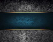 Design template. grunge metal texture with blue sign — Stock Photo