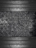 Old grunge metal background with iron plate. Design template — Stock Photo