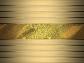 Gold background with gold stripes on the side. Design template — Stock Photo