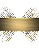 Gold ribbon nameplate — Stock Photo