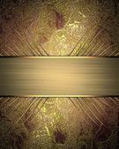 Golden red background with gold ribbon. — Stock Photo
