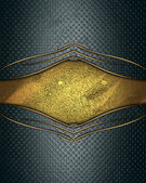 Grunge background with gold cutout for text — Stock Photo