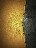 Golden texture with dark cutout. — Foto de Stock