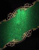 绿色和金色纹理 — 图库照片