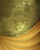 Grunge gouden achtergrond met linten onderaan — Stockfoto