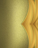 Yellow texture with gold edged ribbons — Stock Photo