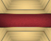 Background of gold ribbon and gold nameplate. — Stock fotografie