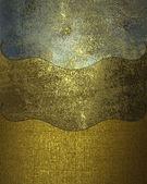 Granica złote płyty z różnych materiałów, stary — Zdjęcie stockowe