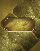 Abstract background of old gold plates. Design template — Stockfoto