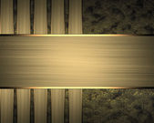 Golden texture with gold stripes. Design template — Stock Photo