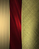 Golden texture with red accents. Design template — Stock Photo
