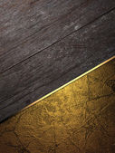 Grunge board with gold. Design template — Stock fotografie