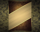 Abstract dark background with red sign and gold cutout. Design template — Stock Photo
