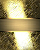 Shiny gold background with gold ribbon. Design template — Stockfoto