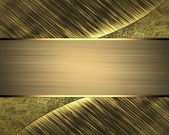 Abstract background of golden plates. Design template — Stock fotografie