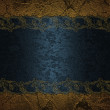 Grunge blue background with abstract brown ragged edges — Stock Photo #43757817