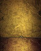Sfondo grunge oro con bordo rosso. modello struttura — Foto Stock
