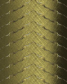 Background of gold bands with gold trim. Design template — Stock Photo