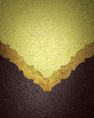 Grunge gold background with a brown texture with gold trim — Stock Photo