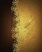 Background of gold and wood with gold patterns — Stock Photo