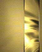 Gold background for design of writing the text for site — Stock Photo