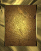 Gold texture with gold waves and gold plate. Template for design — Stock Photo