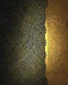 Fondo dorado oscuro con borde de oro y patrón — Foto de Stock
